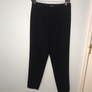 Layfayette 148 Black Dress Pants elastic waist S